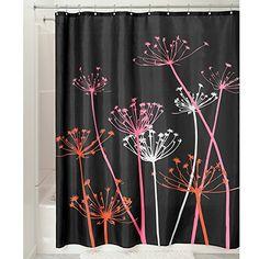 InterDesign Thistle Shower Curtain, 72 x 72, Black/Pink InterDesign http://www.amazon.com/dp/B00AYUM6US/ref=cm_sw_r_pi_dp_z7QRub0PR3X1V