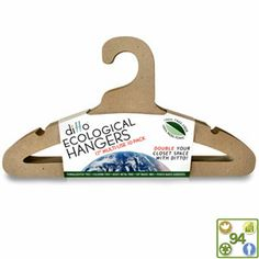 Hangers By Ditto increase your closet space. Ditto Ecological Hangers made by Green Heart Global are Tree-free, environmentally safe, not-toxic and 100% recyclable. #FollowTheHonu