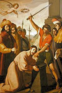 St. James the Greater, apostle and martyr, pray for us and Guatemals, Chile, Spain, Medjugorje, equestrians, laborers, soldiers, veterinarians, pilgrims and those who suffer from arthritis and rheumatism.  Feast day July 25.