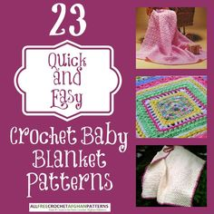 Need a few crochet baby blanket patterns? Check out these free crochet baby blankets and whip a few up in minutes!