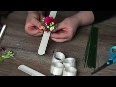 Flower Crown Wedding, Wrist Corsage, Valentine Day Crafts, Baby Crafts, Diy Wedding, Creations, Inspiration, Flowers, Punch Needle