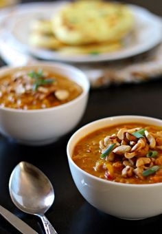 Indian Mulligatawny Soup - The Wanderlust Kitchen - use water saute and veg broth for WFPB Soup Recipes, Vegetarian Recipes, Cooking Recipes, Healthy Recipes, Delicious Recipes, Mulligatawny, Vegan Soups, Soup And Salad, Indian Food Recipes