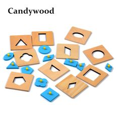 >> Click to Buy <<  Candywood High quality 10pcs/Set Montessori Geometric shape Early learning Education wood puzzles Juguetes for Children  #Affiliate