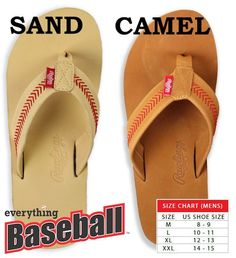 a6f433ef9850f 2019 Rawlings Leather Men s Baseball Flip Flops br 2 COLORS IN-STOCK NOW!