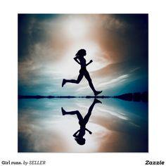 Girl runs. poster