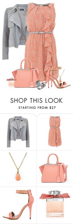"""15.07.2016"" by marie-iiii ❤ liked on Polyvore featuring Apricot, American Apparel, Fendi, Michael Antonio, Chloé and Mews London"