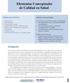Elementos Conceptuales de Calidad en Salud  #Enfermeria #MedicinaInterna #AZMedica