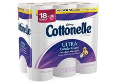 2x 18-Count Cottonelle Ultra Comfort Care Double Roll Toilet Paper  FREE $5 Gift Card $15.58 (target.com)
