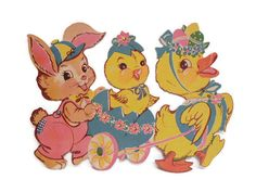 DieCut Card Stock Easter Animal Parade Decoration by MyPalPeppy, $7.00