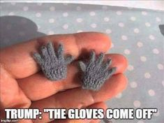"""Trump threatens, """"The gloves come off!"""""""