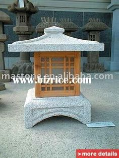 Japanese style granite stone lanterns / China Stone Garden Products for sale Japanese Garden Lanterns, Japanese Stone Lanterns, Japanese Garden Design, Chinese Lanterns, Japanese Style, Japanese Things, Asian Lamps, Stone Fountains, Asian Garden