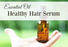 Essential oil hair repair and growth serum Informations About Essential Oil Healthy Hair Serum Recip Essential Oils For Hair, Essential Oil Uses, Young Living Essential Oils, Oil Substitute, Homemade Shampoo, Homemade Products, Hair Loss Remedies, Hair Serum, Young Living Oils