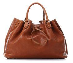 Handtasche Leder braun 39 cm