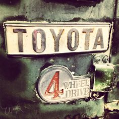 Vintage Toyota emblem from the past 50 years.