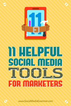 Social media and marketing go hand and hand. These 11 tools will help transform your marketing ideas to content that will better your social media identity. Digital Marketing Strategy, Marketing Tools, Business Marketing, Content Marketing, Social Media Marketing, Online Business, Marketing Strategies, Marketing Ideas, Marketing Technology
