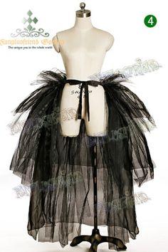 Visual Kei/Punk Lolita Puffy Gauze Bustle Pannier*Ankle Length