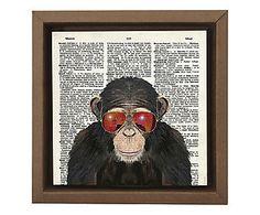 Gravura Digital Macaco Cego - 26x26cm