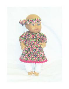 dukkeklær til dukke 36 cm, kjole tilbud