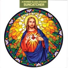 A187 Central Sun Art Decal Window Sticker