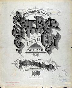 Sanborn map company typography