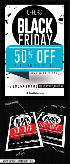Black Friday Sales Flyer by GraphicDiamonds on @creativemarket #blackfriday #flyer #holiday #poster #offerflyer