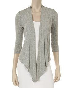 Another great find on #zulily! Heather Gray Tie-Front Cardigan #zulilyfinds