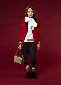 Great red tailcoat at DSquared2 kids fashion for fall/winter 2016