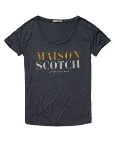 Relax fit logo tee | T-shirt s/s | Woman Clothing at Scotch & Soda