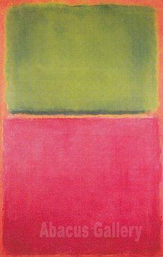 Mark Rothko Untitled Green Red on Orange 1951