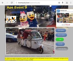 La nostra nuova pagina web su ilovemycity: http://ilovemycity.town/apeevents.php