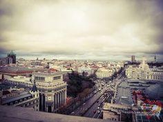 Vista desde la Azotea de Círculo de Bellas Artes. Madrid, Spain.