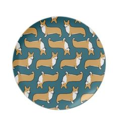 Pembroke Welsh Corgis Plate, Want it cheaper? Use this link for coupons: https://www.zazzle.com/coupons?rf=238077998797672559