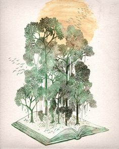 Check out the design My Jungle Book by David Fleck available on Vertical Print on Threadless Book And Frame, Up Book, The Jungle Book, Ghost In The Machine, Buch Design, Wow Art, I Love Books, Book Worms, Illustration Art