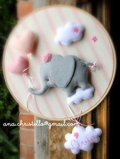: Porta de maternidade/bastidor elefantinho