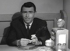 Rod Serling...one of the greatest voices in TV. It was a Friday night must***