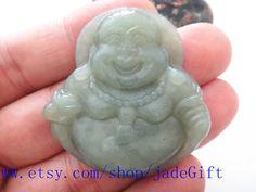 Free Shipping   Natural Green jadeite jade Maitreya by jadeGift, $22.99