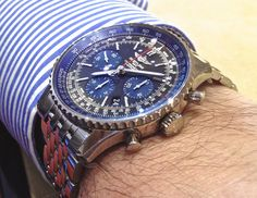 Breitling Superocean Heritage, Breitling Navitimer, Breitling Watches, Leather Watch Bands, Young Fashion, Cool Watches, Fashion Watches, Blue, Technology