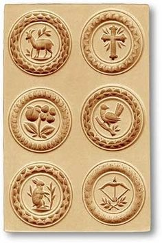 """6 Pictures - Goat, Cross springerle cookie mold, 100x154mm / 3.9x6.1"""""""