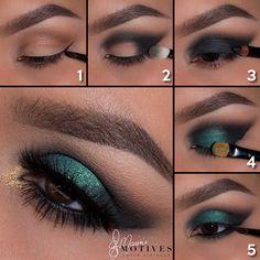 Green Goddess Eye Shadow look