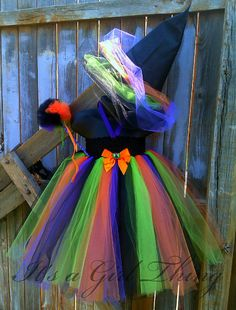 Colorful Witch Tutu Dress