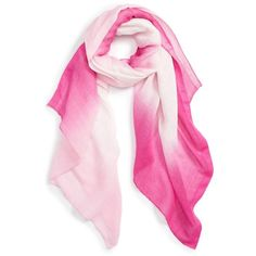 Women's Caslon Ombre Haze Scarf (€35) ❤ liked on Polyvore featuring accessories, scarves, pink combo, pink shawl, ombre scarves and pink scarves