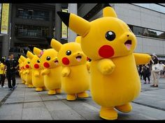 Yellow Color With Pikachu (피카츄) Dance Song - Music For Children - Cute F...