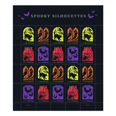 Spooky Silhouettes Stamp | USPS.com