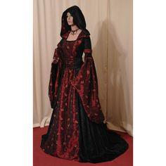 medieval renaissance VAMPIRE HALLOWEEN wedding handfasting dress... ($270) ❤ liked on Polyvore