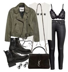 """""""Untitled #20536"""" by florencia95 ❤ liked on Polyvore featuring H&M, Anine Bing, Ray-Ban, Yves Saint Laurent, Acne Studios, Kendall + Kylie and Monica Vinader"""