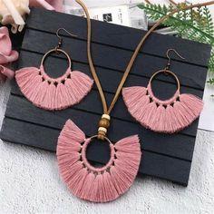 Long Tassel Earrings, Tassel Jewelry, Fringe Earrings, Pendant Jewelry, Jewelry Sets, Tassel Necklace, Pendant Necklace, Ethnic Jewelry, Jewelry Making