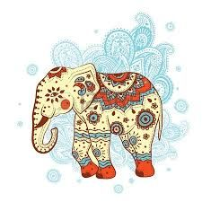 Free art print of Ethnic ornamented elephant. The stylized figure of an elephant in the festive patterns Elephant Poster, Elephant Artwork, Vintage Elephant, Indian Elephant Art, Indian Art, Free Art Prints, Elephant Design, Elephant Tattoos, Hindu Art