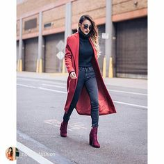 repost via @instarepost20 from @notjessfashion Been wearing this gorgeous burgundy coat from @boohoo everyday, it's only $36 today with their storewide 30% discount! What a steal! Get it before it's...