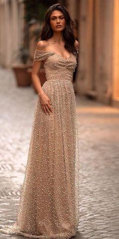 Rose Gold Wedding Dress, Wedding Gown A Line, Gold Wedding Gowns, Wedding Gowns With Sleeves, Bridal Gowns, Wedding Bride, Wedding Dresses, Simple White Dress, Mermaid Dresses