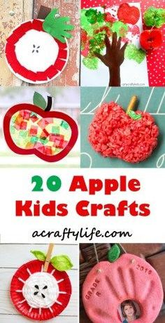 Apple Kid Crafts – Fall Fun Activities apple kids crafts -fall kid crafts crafts for kids- acraftyli Fall Arts And Crafts, Easy Fall Crafts, Thanksgiving Crafts, Fun Crafts, Etsy Crafts, Spring Crafts, Creative Crafts, Decor Crafts, Holiday Crafts
